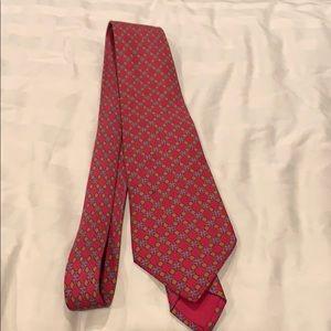Men's Hermès Paris red silk tie authentic